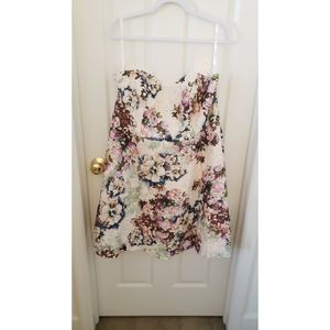 David's bridal lace printed sleeveless dress